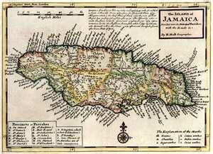 Mapa Histórico de Jamaica