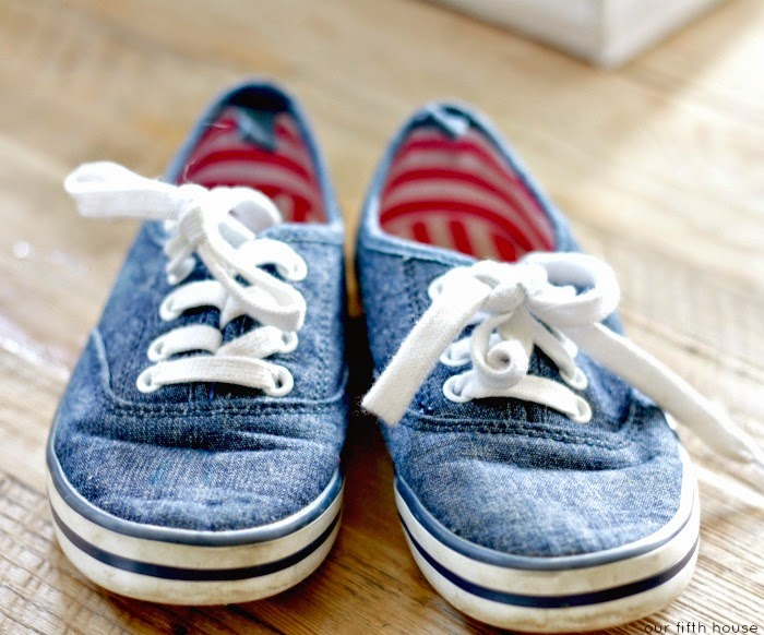 kid's chambray tennis shoes from Old Navy
