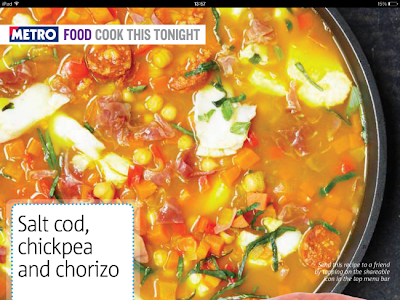 Metro Evening Tablet Edition - Recipe