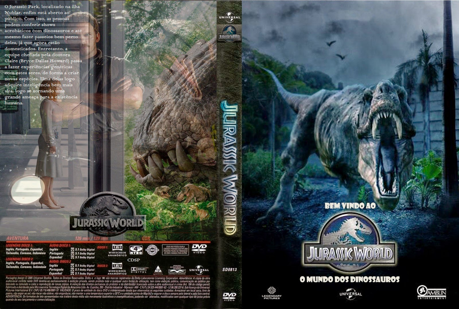 Download Jurassic World O Mundo dos Dinossauros HDRip XviD Dual Áudio Jurassic 2BWorld 2Bcap 2B2