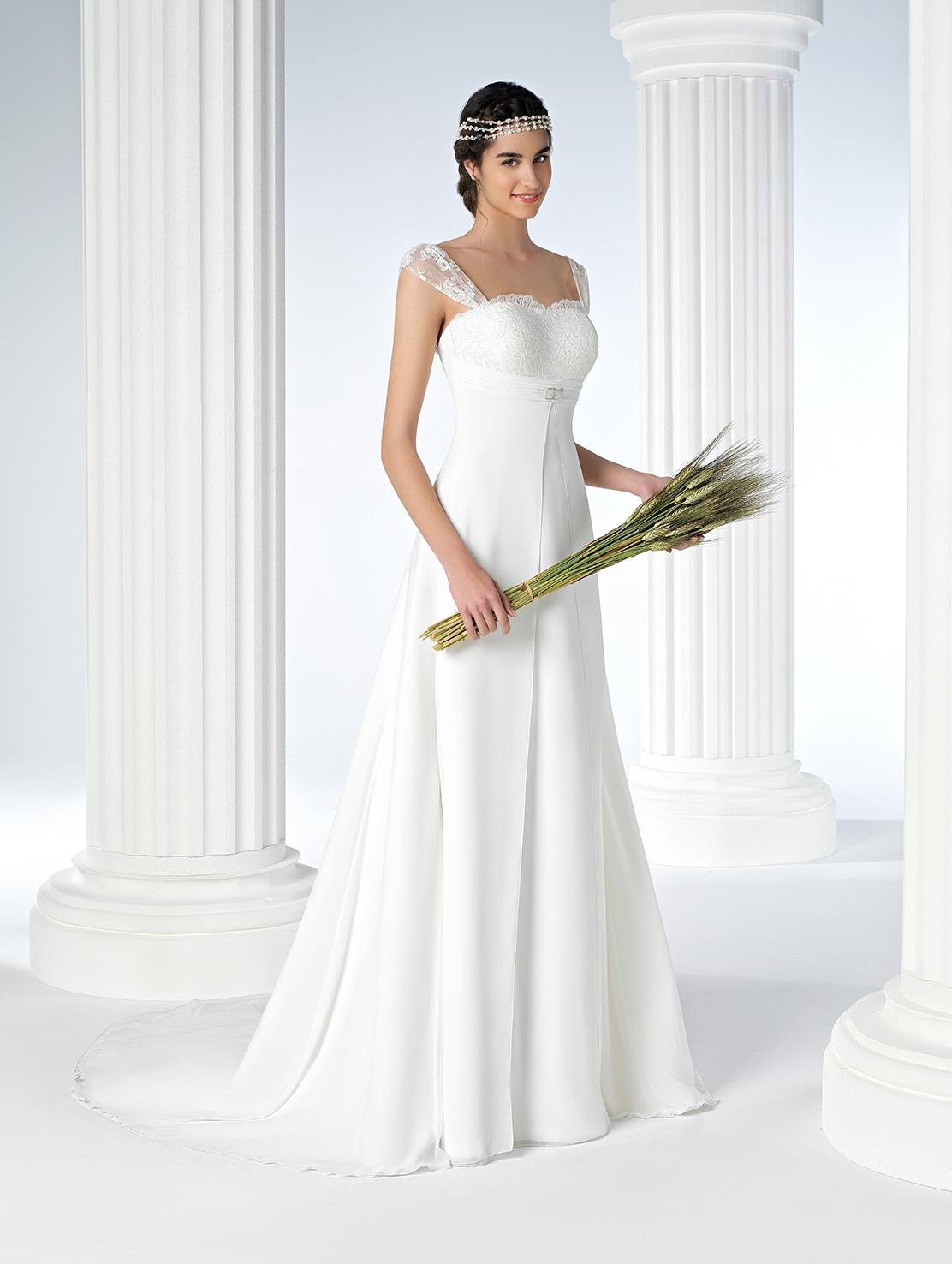 Vestidos de novia con corte imperio