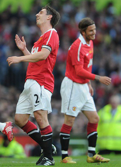 Friendly Match Gary Neville David Beckham Manchester United vs Juventus