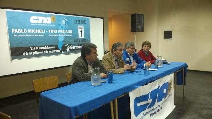 Fue presentada la LISTA 1 Germán Abdala CTA Tucumán