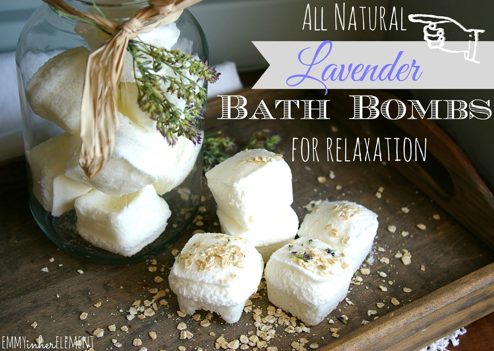 Emmy in her element homemade all natural lavender bath fizzies relaxation diy bath bombs solutioingenieria Gallery