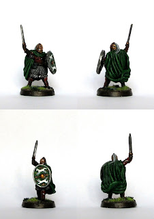 Konwersja figurki Władcy Pierścieni Eomera z zestawu Heroes of the West na Marszałka Riddermarchii