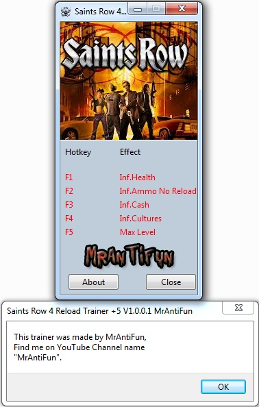 Saints Row 4 Reload Trainer +5 V1.0.0.1 MrAntiFun