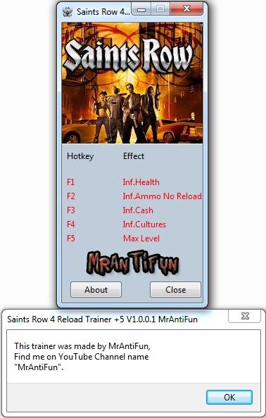 Saints Row 4 Reload Trainer +5 V1.0.0.1 MrAntiFun