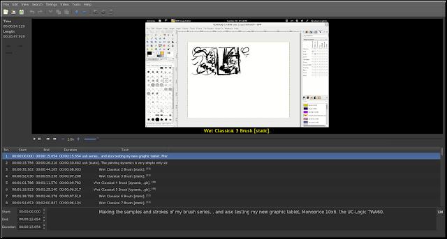 Screenshot do Gnome Subtitles em ação com vídeo e captions em linha.