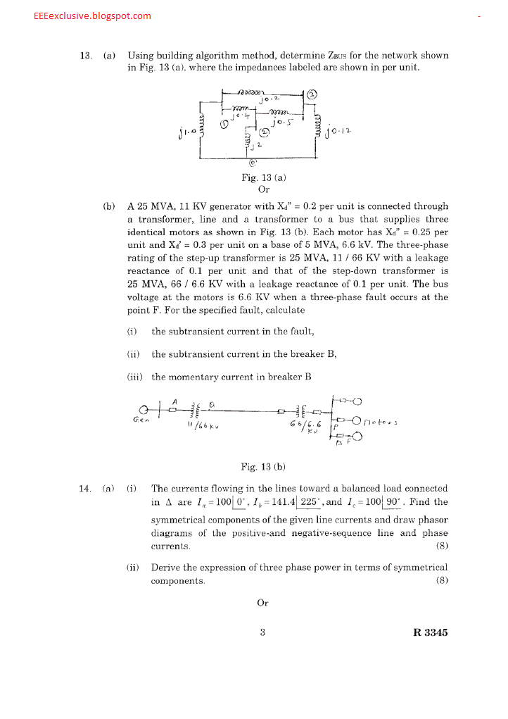 Ee2351 Power System Analysis Nov Dec 2007 Question Paper
