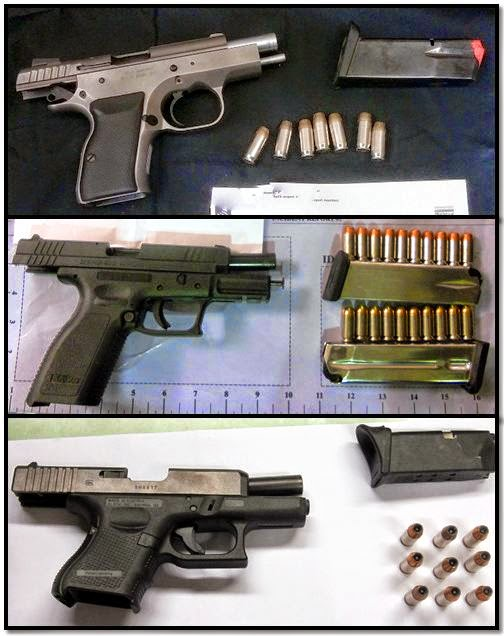 Guns Discovered at (Top To Bottom): MSO, PHX, PSC