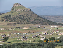 Isandlwana Mountain and battle panorama, Zululand, South Africa