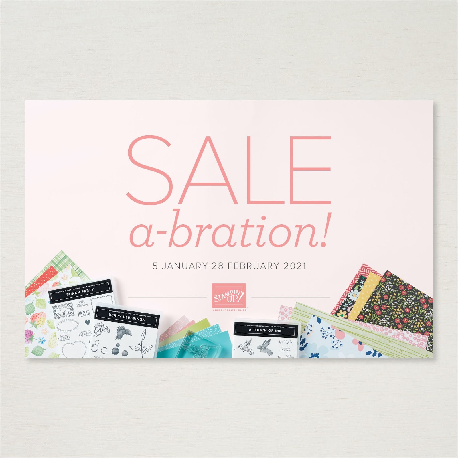 View the Stampin' Up! 2021 Sale-A-Bration Brochure Online