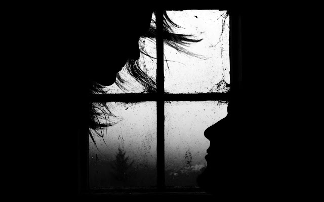 Black & White Window Wallpaper