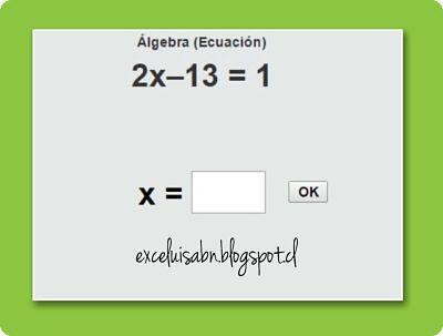 Ecuaciones con Thatquiz.