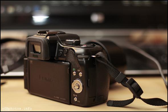 Fotografia del dorso della Panasonic G5