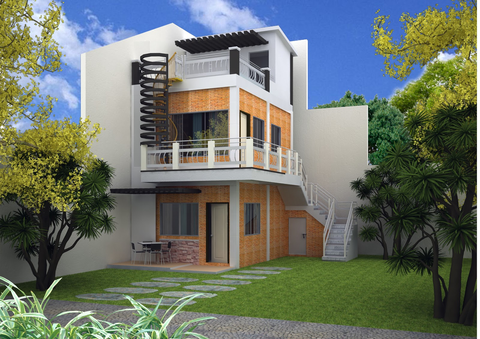 Architectural designs 3 storey house design for Modern house plans 3 story