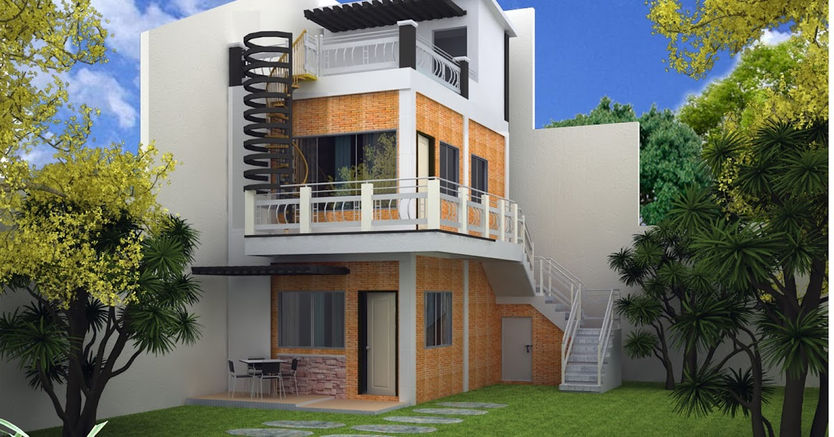 House plans and design architectural design 3 storey house for Small house design 3rd floor