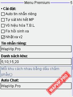 wapcip-pro-Ninja 1.1.9 Premium v3.5 - Cải Tiến Nhặt Xa v2, Auto Buff HP, Bảo Vệ, Qua Hang 6x