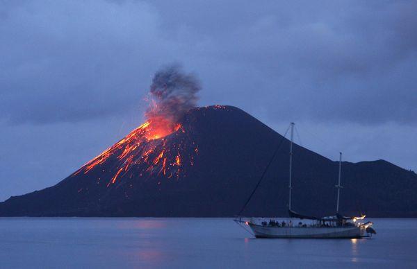 Mount Krakatoa Eruption