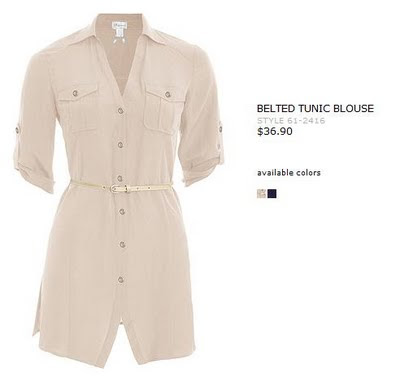 Dynamite Belted Tunic Blouse