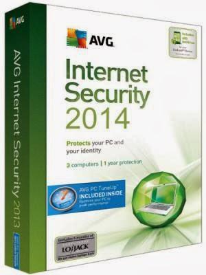 INTERNET SECURITY AVG 2014 CON SERIALES HASTA EL 2018