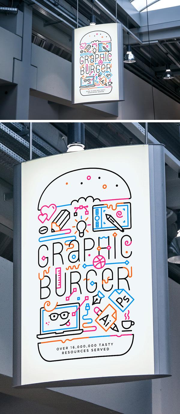 Download Poster Mockup PSD Terbaru Gratis - Indoor Advertising Poster MockUp #2