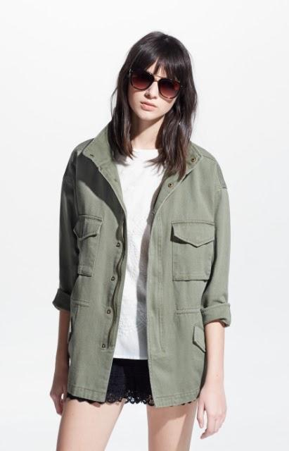 Mango Military Style Jacket