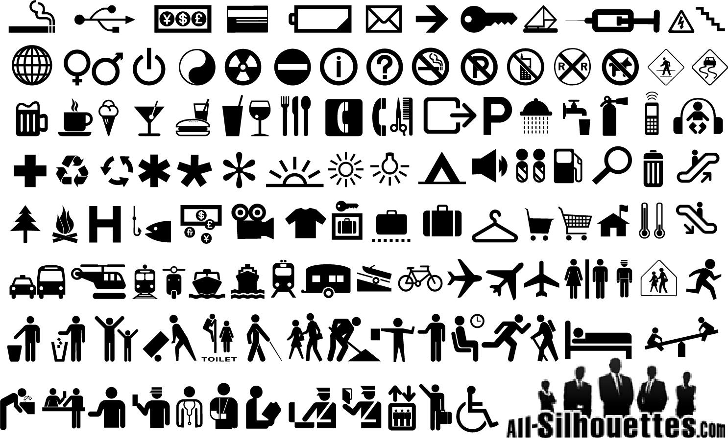 ピクトグラム アイコン集 Vector Pictogram Icons イラスト素材