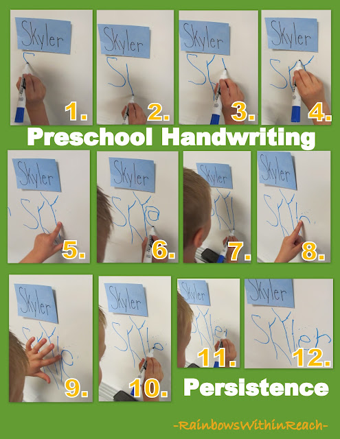 photo of: Dry Erase Board for Fine Motor Development in Preschool