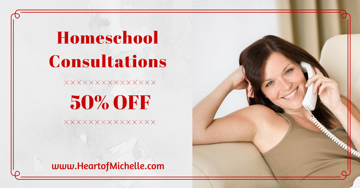 Save 50% on a homeschool consultation