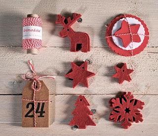 kit Noël, calendrier de l'avent handmade, décoration noël