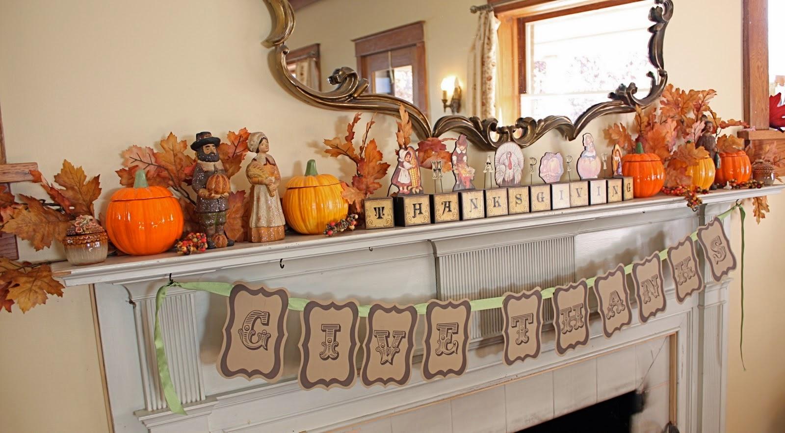 Amy s daily dose thanksgiving mantel decor ideas