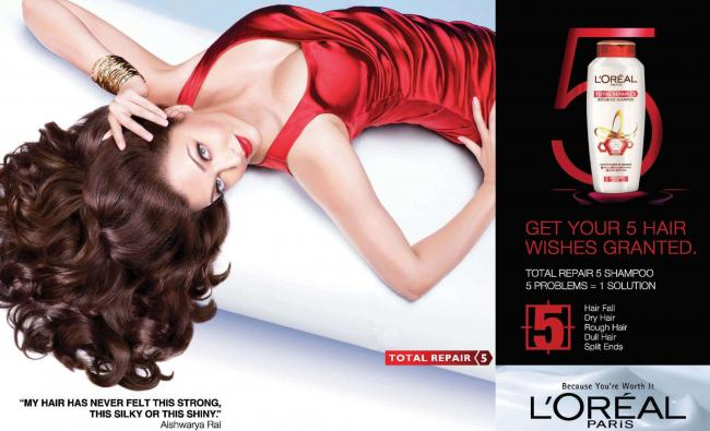 Aishwarya Rai New L'Oreal Paris Print Ad Hot Photoshoot