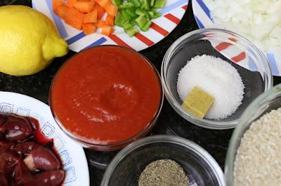 Ingredientes para arroz con higaditos de pollo