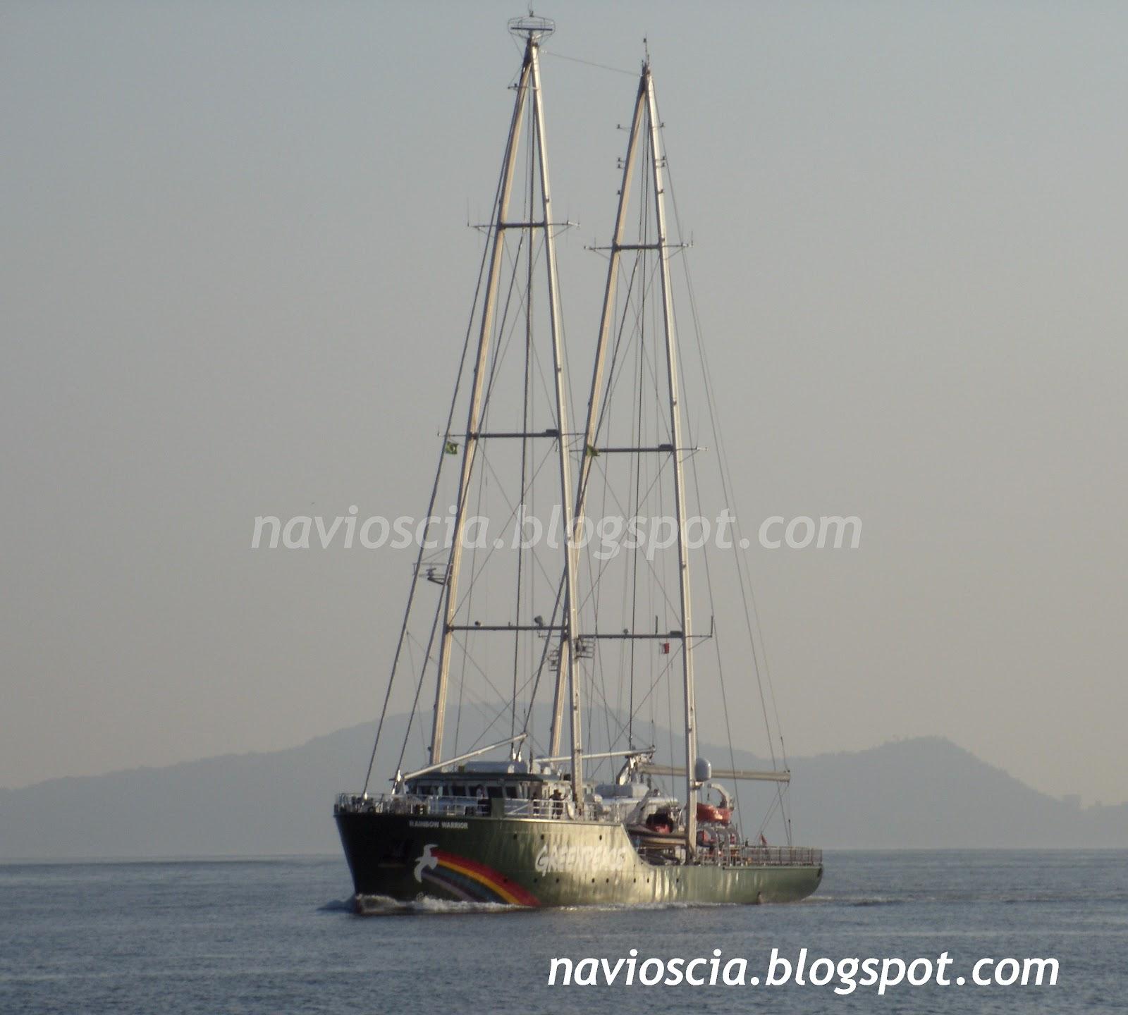 Rainbow Warrior I Ii Y Iii Greenpeace: Navios De Santos & CIA: Navio Veleiro RAINBOW WARRIOR