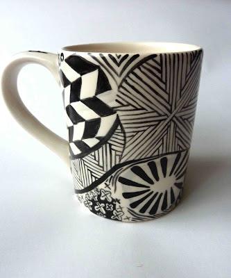 Zentangled mug