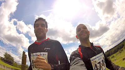 John and Myself running Tough Guy - Nettle Warrior. The Sahara Marathon will be much tougher than this.
