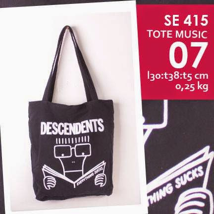 jual online tote bag kanvas murah tema music logo grup band descendents