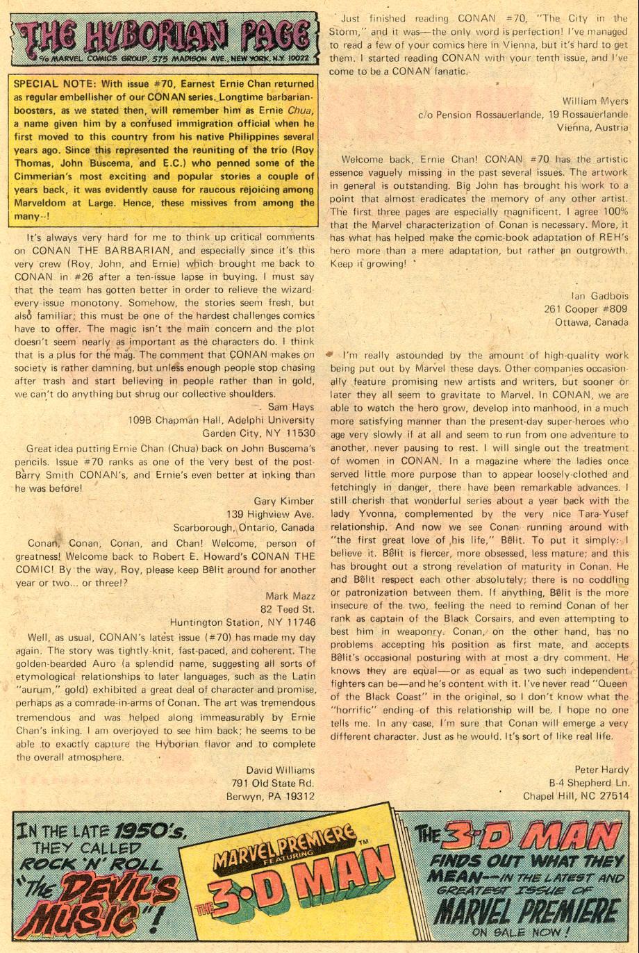 Conan the Barbarian (1970) Issue #74 #86 - English 19