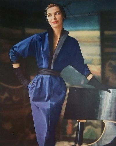 1950s Blue Suit Dress #vintage #suit #1950s #dress #blue