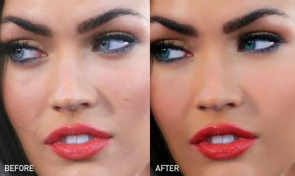 Megan Fox antes y despues photoshop