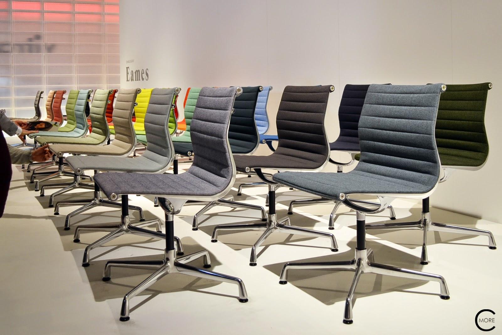 Vitra milan 2014 the eames aluminium chair color wheel for Salone del mobile vitra