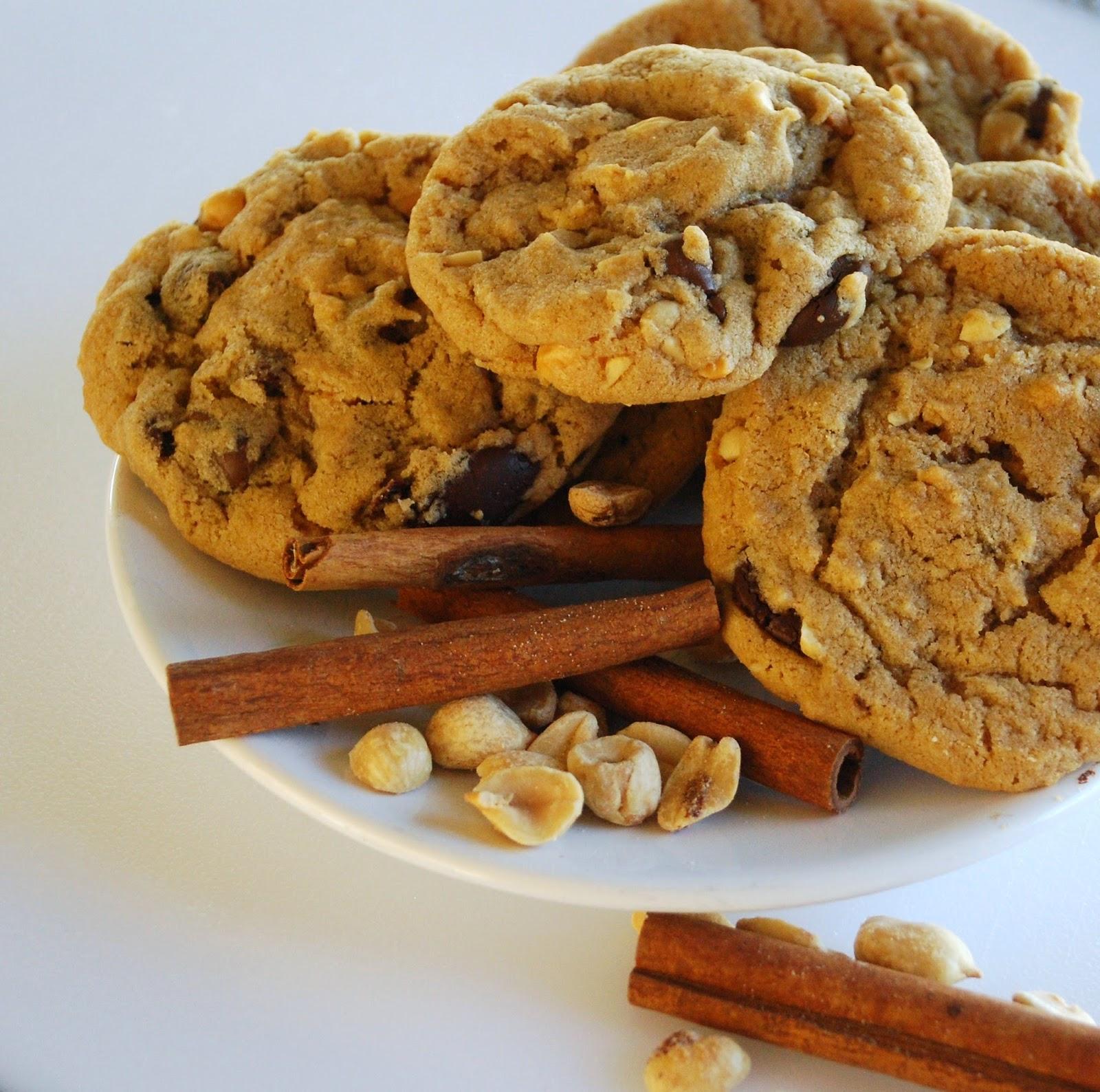 Everyday Insanity...: Chunky Peanut, Chocolate and Cinnamon Cookies