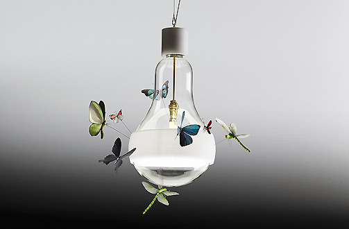 These Two Large Light Bulbs With Butterflies And Dragonflies Aflutter Were  Launched By The Incomparable German Lighting Designer Ingo Maurer (b.