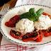 Gedroogde tomaatjes met een mousse van geitenkaas