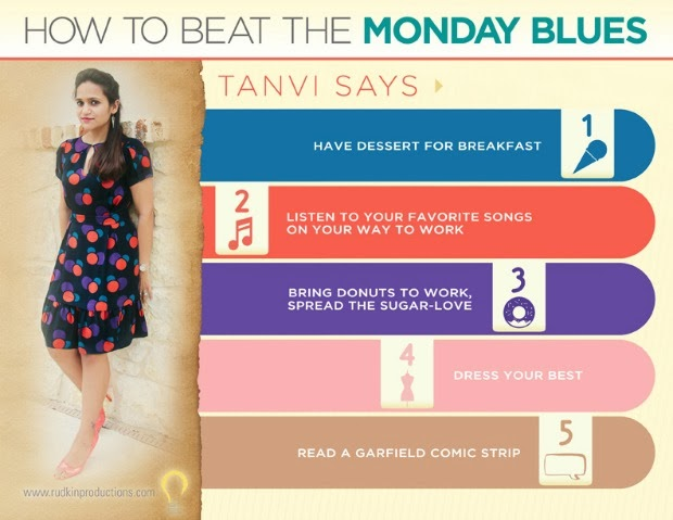 How To Beat The Monday Blues, Tanvii.com