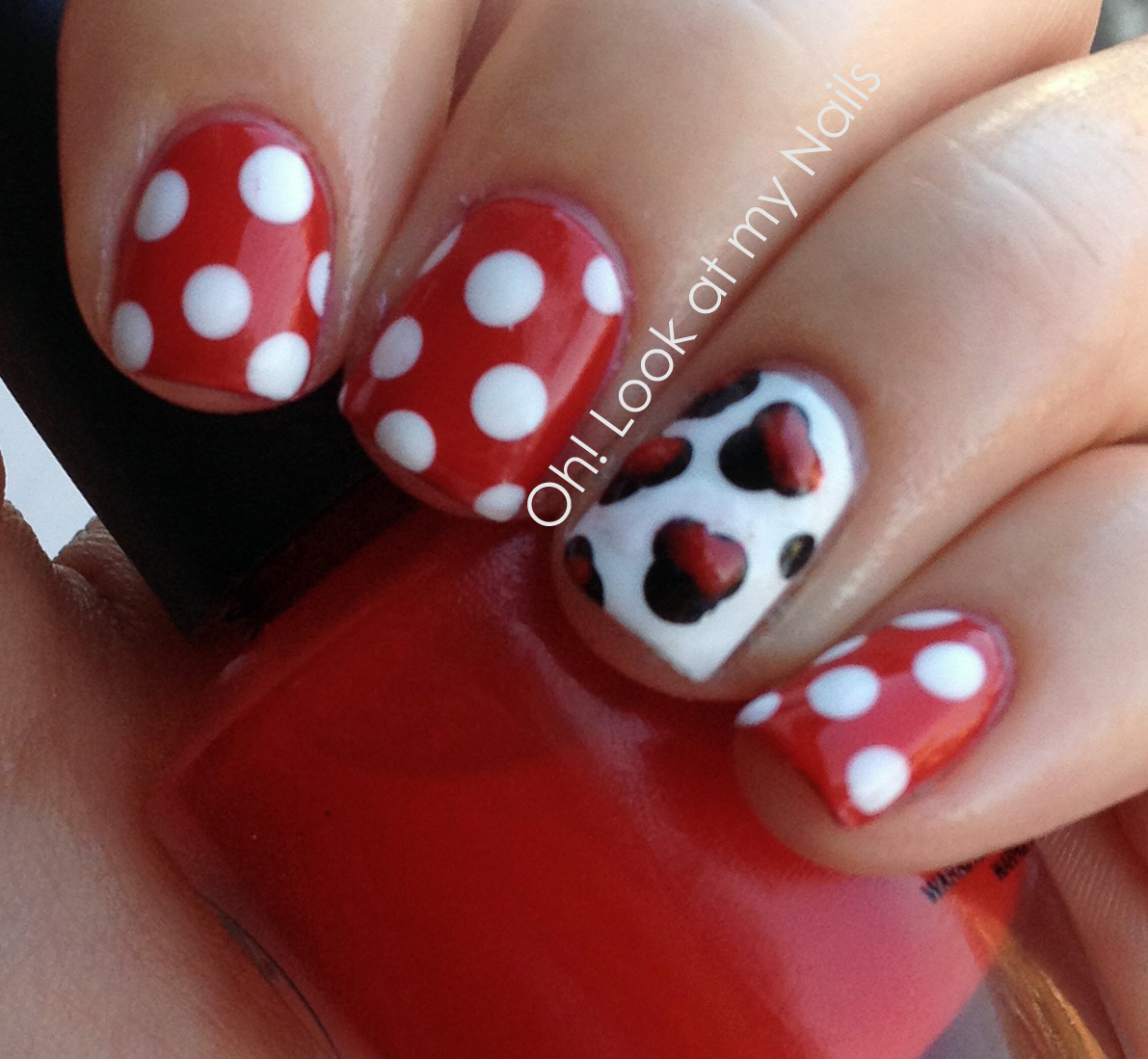 Minnie Mouse Nails: Oh! Look At My Nails: Minnie Mouse Nails