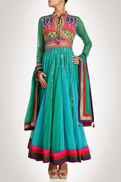 Kiran&ampShruti Akshindianfrockstyledresses 3  - Indian Frock Style Dresses Collection
