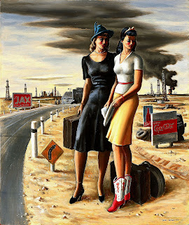 Jerry Bywaters Oil Field Girls