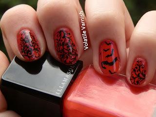 goth red stamping bats Illamasqua